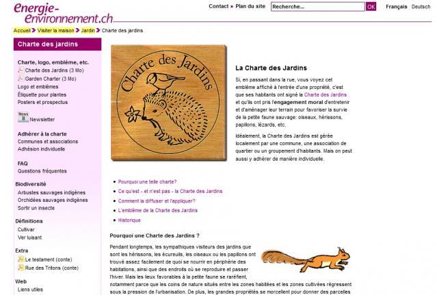 La Charte des Jardins (site web)